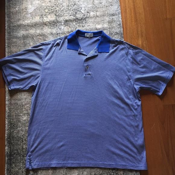cf0102cdb32 Nick Price cool luxe blue striped polo XL. M_5b9ff333d6dc52047896eb4a